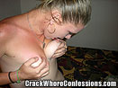 Crack Whore Licking Nasty Titties